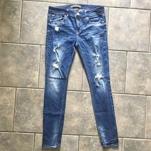 Express distressed skinny jeans 8R